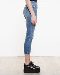 Stella McCartney - Blue Polka-dot Boyfriend Jeans - Lyst
