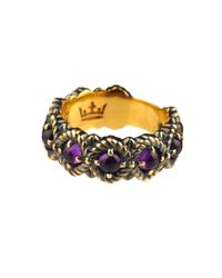 Queensbee | Purple Bubbles Ring Middle Amethyst | Lyst