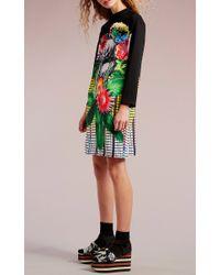 Clover Canyon - Multicolor Pixel Petals Long Sleeve Dress - Lyst