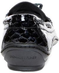 Donald J Pliner | Black Donald J Pliner Lacey Loafers | Lyst