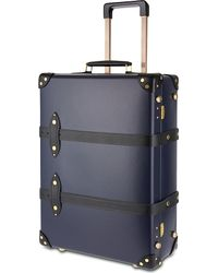 "Globe-Trotter - Blue Moneypenny 21"" Two-wheeled Trolley Suitcase for Men - Lyst"