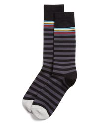 Paul Smith - Black Multitop Stripe Socks for Men - Lyst