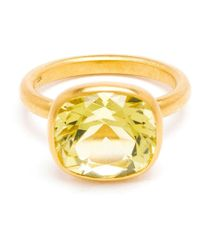 Marie-hélène De Taillac | Yellow 18Kt Gold Citron Quartz Ring | Lyst