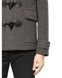 Burberry Brit - Gray Wool Duffle Coat - Lyst