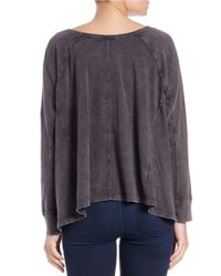 Free People | Black Sunrise Tee | Lyst