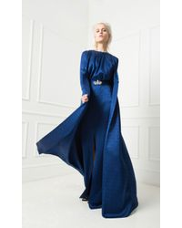 Temperley London - Blue Long Faye Coat - Lyst