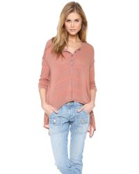 Free People | Pink Slinky Hacci Top | Lyst