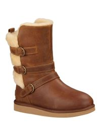 UGG - Brown Ladies Becket Water Resistant Leather Boots - Lyst