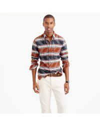 J.Crew | Brown Slim Southwest Jacquard Flannel for Men | Lyst