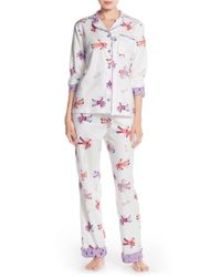 Munki Munki | White Flannel Pajamas | Lyst