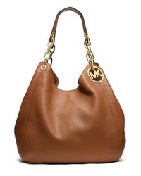MICHAEL Michael Kors | Brown Fulton Leather Large Tote Bag | Lyst