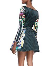 Mary Katrantzou - Black Long-sleeve Coppelia Butterfly Jewel Print Dress - Lyst