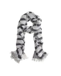 J.Crew - Black Shaded Diamond Scarf - Lyst
