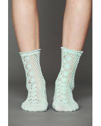 Free People - Blue Womens Daisy Lane Ankle Sock - Lyst