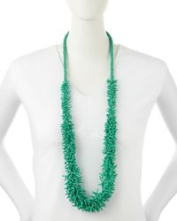 Kenneth Jay Lane - Green Coral-strand Cluster Necklace - Lyst