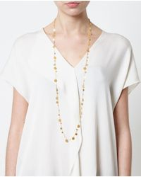 Marie-hélène De Taillac | Metallic 22k Yellow Gold Dangling Sequins Necklace | Lyst