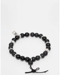 Icon Brand - Beaded Bracelet In Black for Men - Lyst