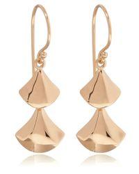 Dinny Hall - Metallic Rose Gold Vermeil Naga Double Drop Earrings - Lyst
