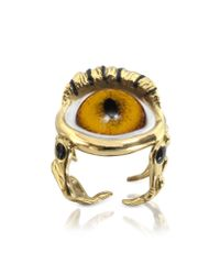 Bernard Delettrez - Metallic Bronze Eye Ring - Lyst