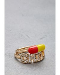 Forever 21 - Metallic Flash Trash Girl Chill Pill Ring Set - Lyst