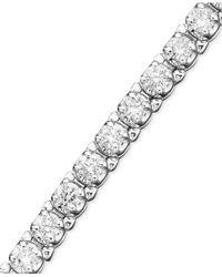 Macy's | Certified Diamond Bracelet In 14K White Gold (3-1/5 Ct. T.W.) | Lyst