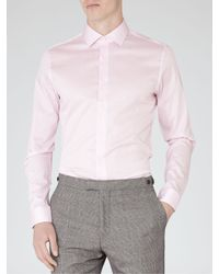 Reiss - Pink Steer Slim Fit Shirt for Men - Lyst