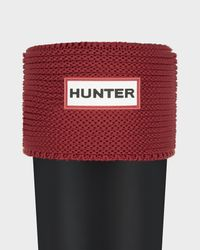 Hunter | Red Short Garter Stitch Cuff Boot Socks | Lyst