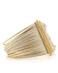 Carolina Bucci | Metallic Gold Multi Strand Wide Bracelet | Lyst
