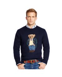 Polo Ralph Lauren - Blue Preppy Polo Bear Sweater for Men - Lyst