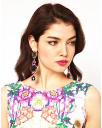 ASOS | Multicolor Rose Triple Drop Earring | Lyst