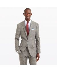 b57d6ff95e11 Lyst - J.Crew Ludlow Suit Jacket In Glen Plaid English Wool in Gray ...