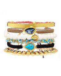 Tai - Threepiece Bracelet Set Whitebrown - Lyst