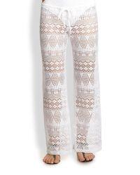 Ralph Lauren Blue Label | White Crochet Pants | Lyst