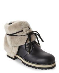Jimmy Choo - Black Dalton Shearling-Lined Boots - Lyst