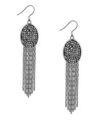 Lucky Brand | Metallic Modern Shine Oval Tassel Earrings | Lyst