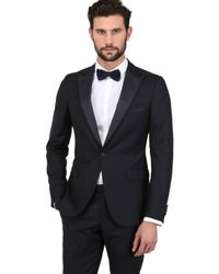 Z Zegna - Blue Structured Wool Tuxedo Suit for Men - Lyst