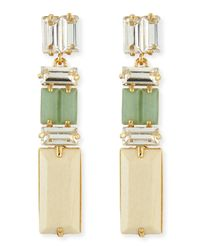kate spade new york | Multicolor Linear Crystalwood Drop Earrings | Lyst