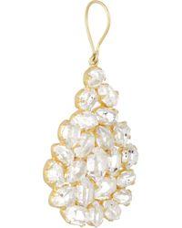 Pippa Small - Metallic 18karat Gold Herkimer Diamond Earrings - Lyst