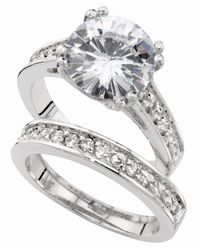 City By City - Metallic Silver-Tone Round Cubic Zirconia Engagement (7-3/8 Ct. T.W.) - Lyst