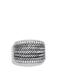 David Yurman - Metallic Wheaton Band Ring With Diamonds - Lyst