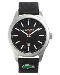 Lacoste | Black 'auckland' Canvas Strap Watch for Men | Lyst