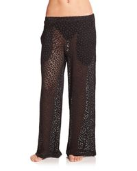 Gottex | Black Tutti Frutti Crocheted Pants | Lyst