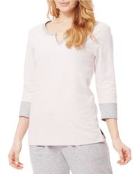 Carole Hochman | Pink Split V-neck Sleep Shirt | Lyst