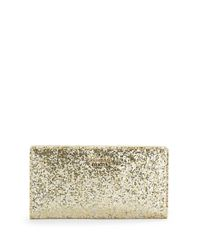 kate spade new york | Metallic Stacy Glitter Wallet | Lyst