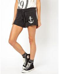Wildfox | Gray Hey Sailor Cutie Shorts | Lyst