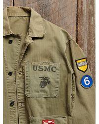 Free People - Green Vintage Us Marine Core Poncho - Lyst