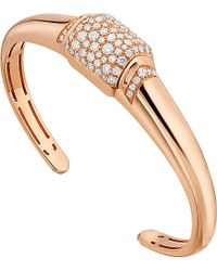 BVLGARI | Mvsa 18ct Pink-gold And Diamond Bracelet | Lyst