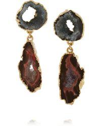 Dara Ettinger | Metallic Janine Gold-Plated Earrings | Lyst