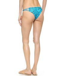 Mikoh Swimwear - Blue Lanai Reef Bikini Bottoms - Lyst