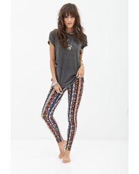 Forever 21 - Multicolor Southwestern Print Leggings - Lyst